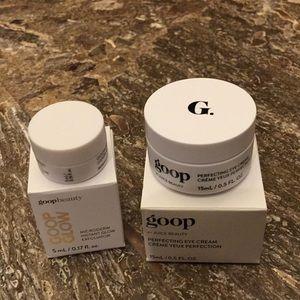 Goop Perfecting Eye Cream and Goop Glow